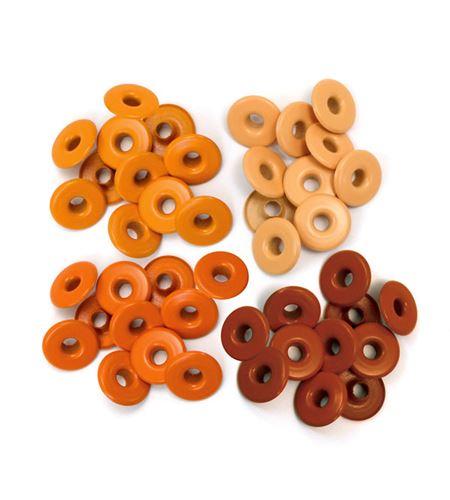 Set de eyelets - 4 tonos naranja 40pc. - 415862