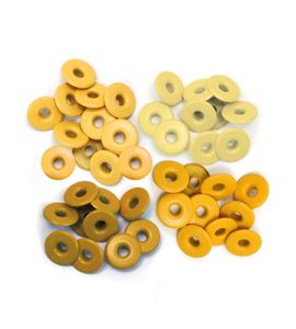 Set de eyelets - 4 tonos amarillo 40pc. - 415879
