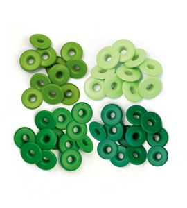 Set de eyelets - 4 tonos verde 40pc. - 415886