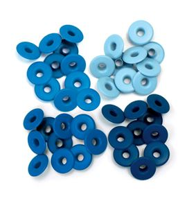 Set de eyelets - 4 tonos azul 40pc. - 415909