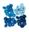 Set de eyelets - 4 tonos azul 40pc.