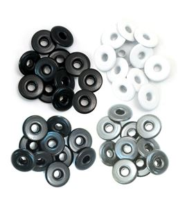 Set de eyelets - 4 tonos gris 40pc. - 415947