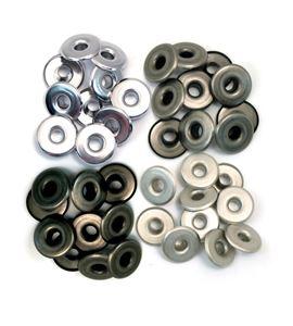 Set de eyelets - 4 tonos metálicos fríos 40pc. - 41596-1