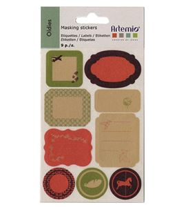 Etiquetas de masking tape - oldies - 11004166