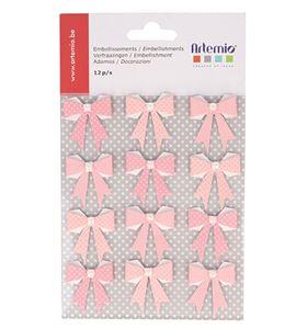 Lazos de papel color rosa - 11060418