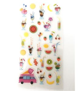 Set de stickers 3d - coctails - 11004529