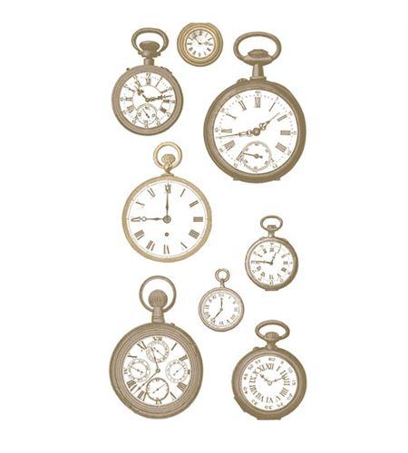 Set de stickers 3d - relojes - 11004481