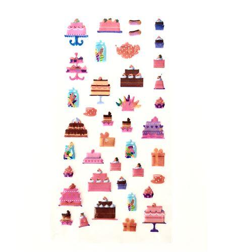 Set de stickers 3d - cakes - 11004484