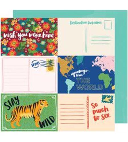 Hoja de papel de scrapbook - stay wild - 341876