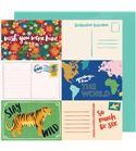 Hoja de papel de scrapbook - stay wild