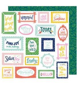 Hoja de papel de scrapbook - find joy - 343422
