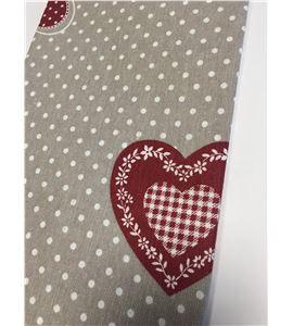 Tela de algodón - corazones - 13020096