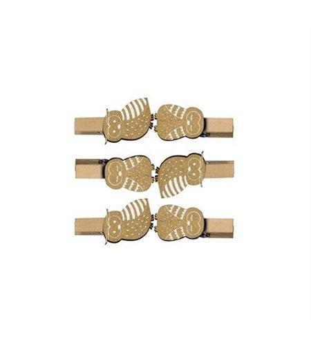 Pinzas de madera - búho - 14002026