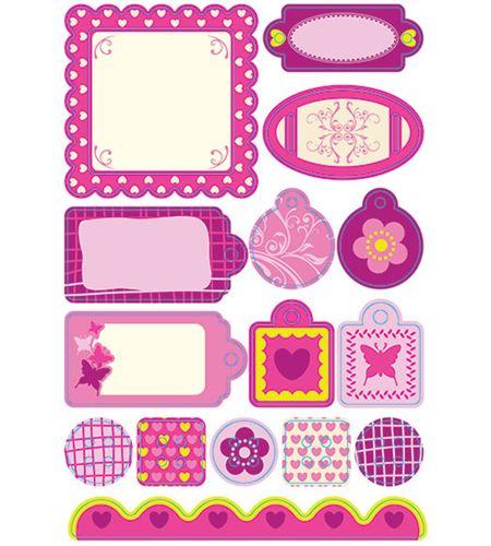 Etiquetas adhesivas de cartón - girl - 11004096
