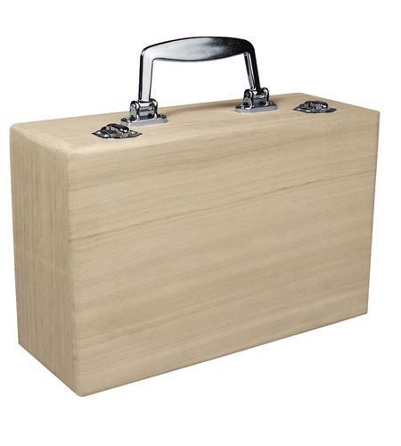 Maleta de madera con asa metálica - 6158000