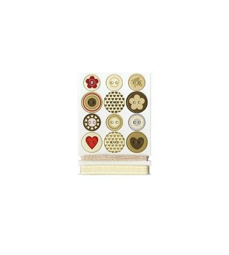 Kit de botones y cintas - love - 11004103