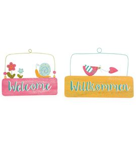 Placa para la puerta welcome, set de 2 - 10013