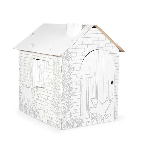 Casa de juego de cartón, casita - 10015
