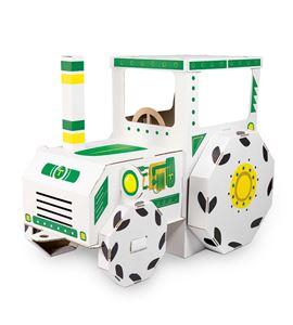 Casa de juego de cartón, tractor - 10016