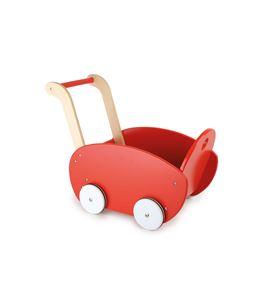 Cochecito de muñecas, rojo - 10025