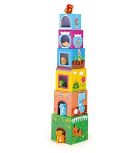 Cubos para apilar con figuras - 10044