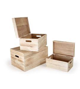 Cofres de madera natural - 10049