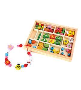 Perlas de madera en caja - 10151