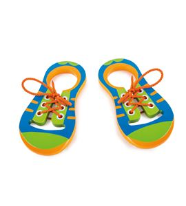 Zapatos para enhebrar de madera - 10152
