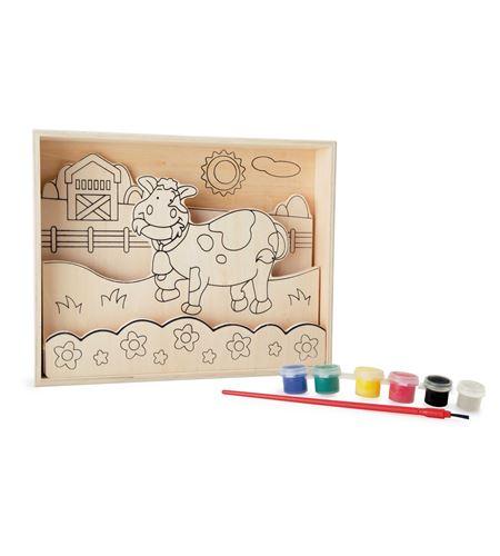 """Imágenes para colorear de madera, """"granja"""" - 10178"""
