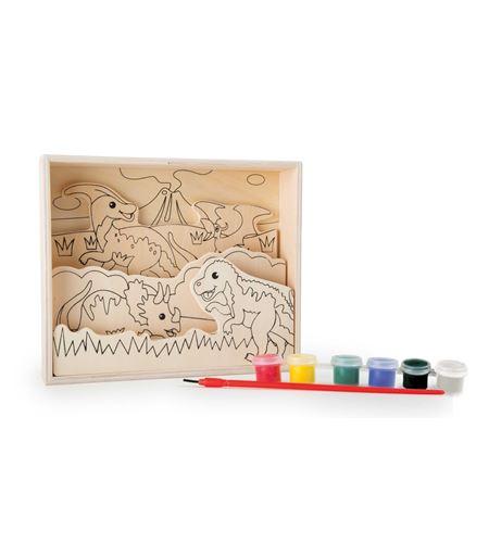 """Imágenes para colorear de madera, """"dinosaurios"""" - 10182"""