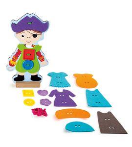 Muñeco para vestir y ensartar, pirata - 10186
