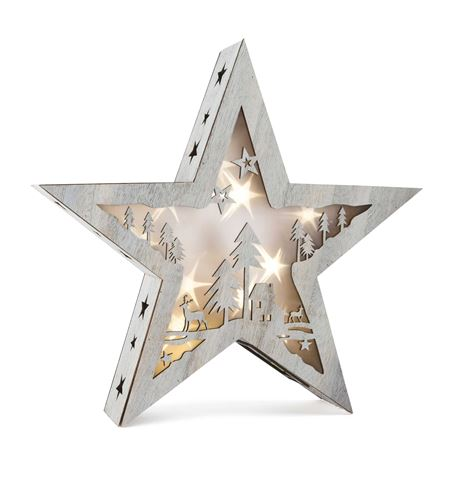 Lámpara estrella shabby chic, grande - 10203
