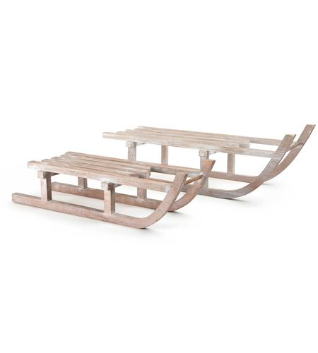Trineos decorativos de madera - 10204