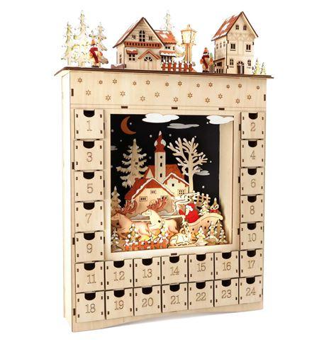 Calendario de adviento de madera ´sueño de invierno´ - 10215