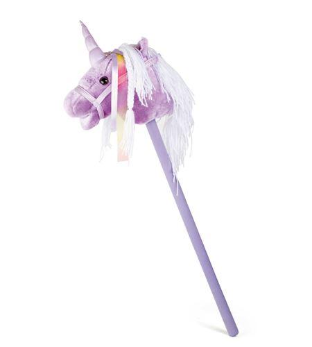Caballo de palo, unicornio lila - 10278