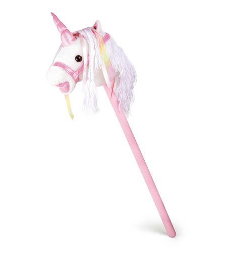 Caballo de palo, unicornio blanco - 10279