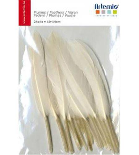 Ref.13030051 - plumas de fantasía blancas - 13030051