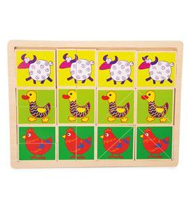"""Puzle con marco """"animales divertidos"""" - 10341"""