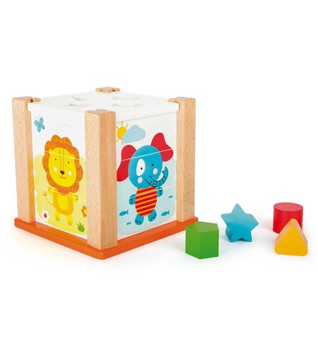 Cubo para encajar animales del zoo - 10502