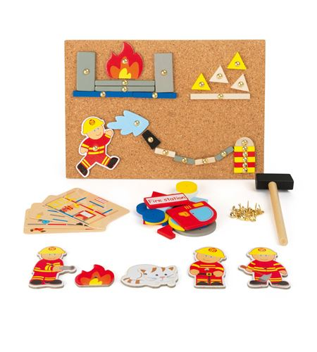 """Juego de martillar """"bomberos"""" - 10581"""