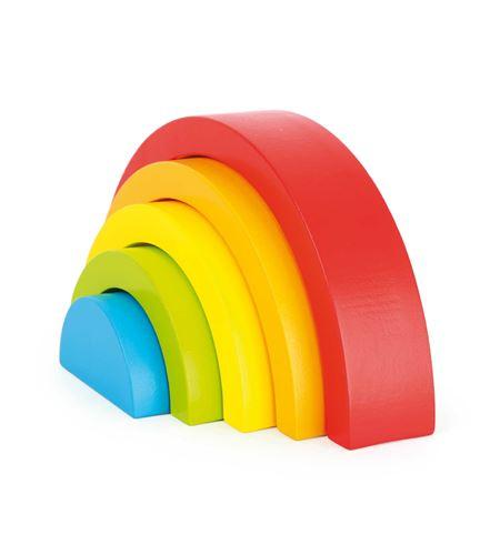 Piezas de construcción de madera arco iris - 10585