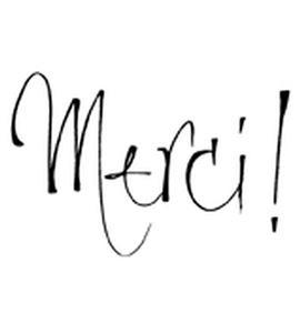 Sello de madera - merci! - ARTHE394