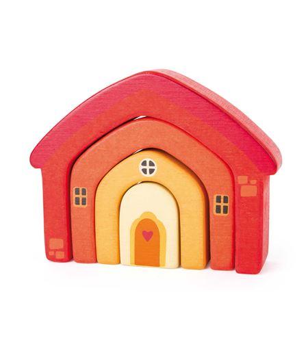 Piezas de construcción de madera casa - 10648