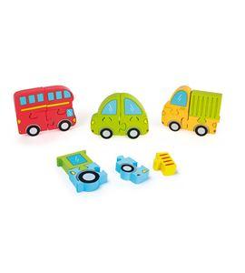 Conjunto de puzle vehículos - 10715