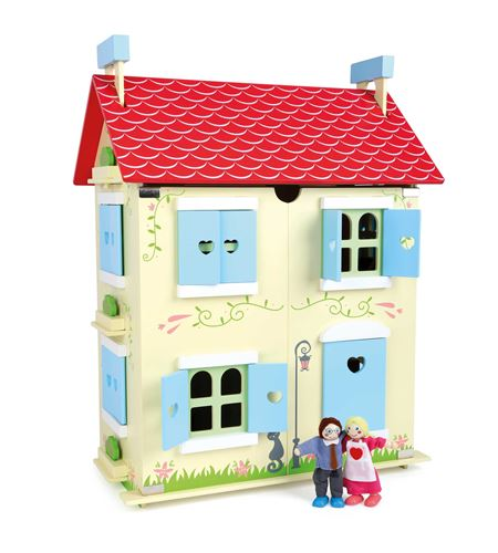 Casa de muñecas con techo desmontable - 10736