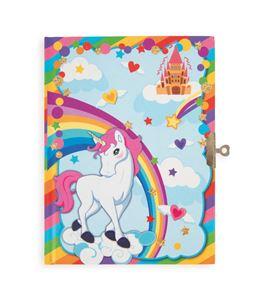 Diario con motivo de unicornio - 10757