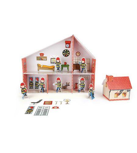 Parque de bomberos de cartón - 10763