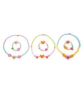 Set de joyas de madera con brillos - 10796