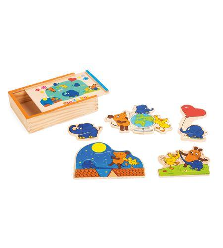 Caja de puzle con el elefante - 10813