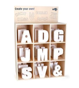 Display letras de madera, grande - 1217